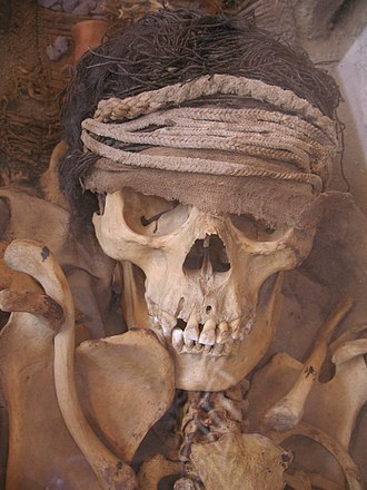 Lima culture - Skull of a royalty member of the Lima people.