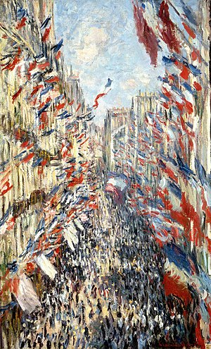 Bastille Day - Claude Monet, Rue Montorgueil, Paris, Festival of 30 June 1878