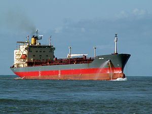 Mont Ace p2 approaching Port of Rotterdam, Holland 11-Feb-2006.jpg