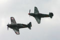 Morane 406 & Yak 9 formation - Legends 2011 (7450561598).jpg