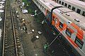 Moscow, trains parked at Moskva-3 railway platform (21237174122).jpg
