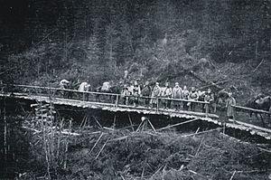Battle of Rafajlowa - A bridge on the so-called Legions Road, 1915