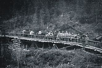 Battle of Rafajlowa - A bridge on the so-called Legions Road, 1915