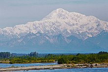 Mount Denali seen from a distance
