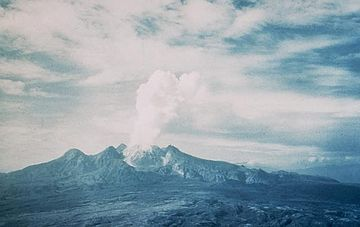 January 14: Mount Lamington erupts in New Guinea. Mount Lamington 1951.jpg