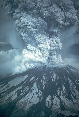 The 1980 eruption of Mount St. Helens Mount St. Helens 05-18-1980.jpg