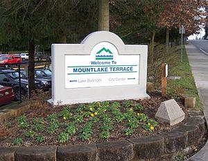 Mountlake Terrace, Washington - Mountlake Terrace welcome sign