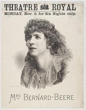 Mrs. Bernard Beere - Lithograph of Mrs Bernard-Beere in 1885