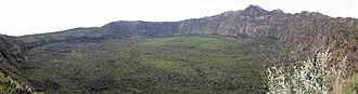 Mount Longonot - Image: Mt. Longonot Crater Feb 2010