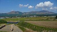Mt Aso from Minamiaso Hisaishi.JPG