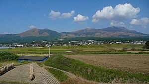 Minamiaso, Kumamoto - View of Mount Aso from Minami-Aso