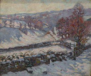 Crozant - Paysage de neige à Crozant (Snow at Crozant), by Armand Guillaumin (1895).