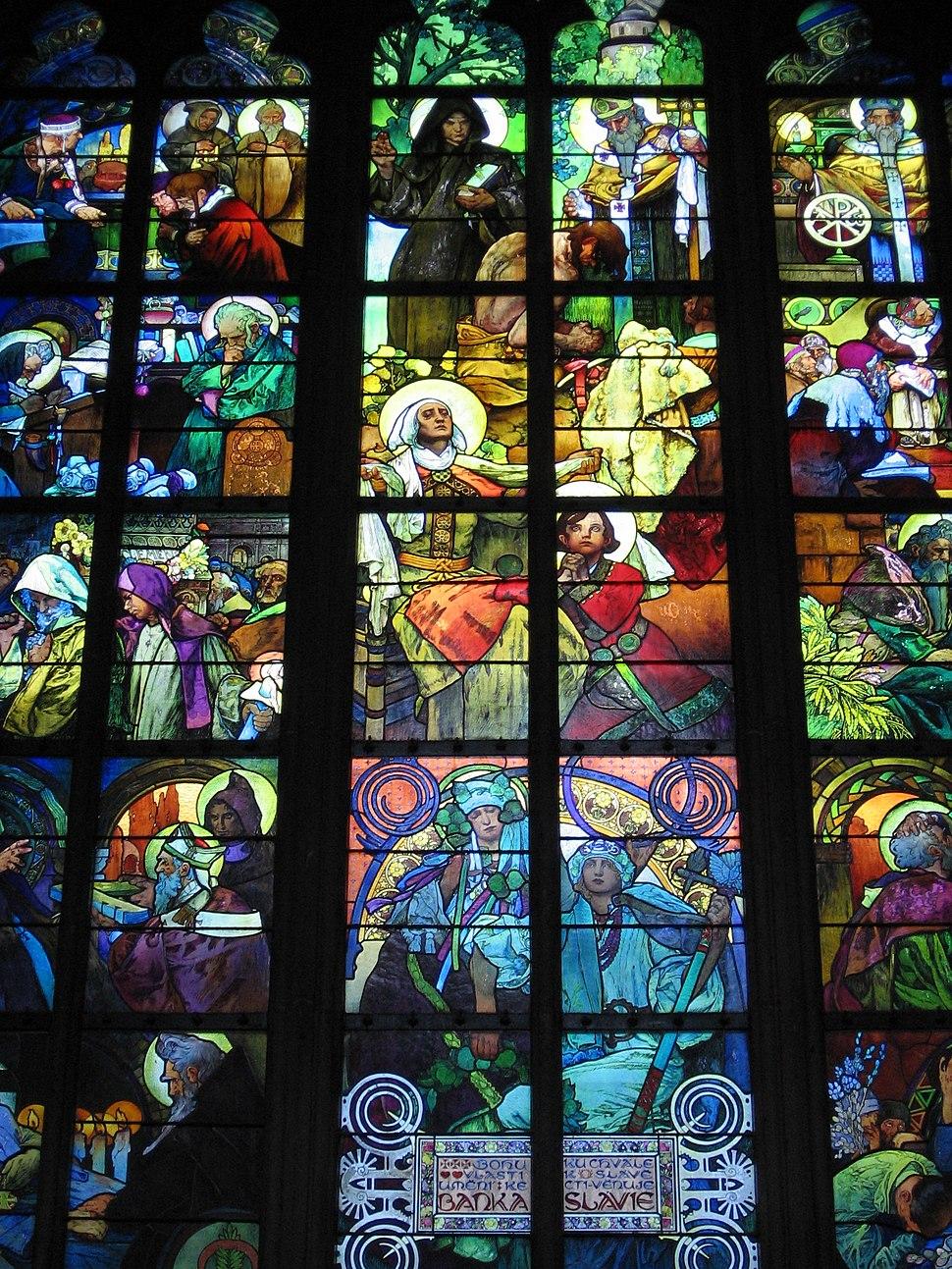 Mucha window in St Vitus