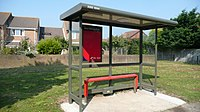 Mudeford De Havilland Way bus shelter.JPG