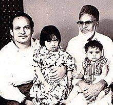 Muhammad Rehmatullah with his father and daughter and son - captured on 1979.jpg
