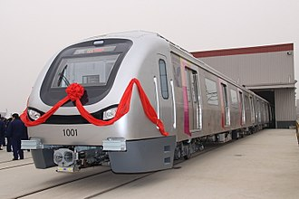 Mumbai Metro - Railcars of the Mumbai Metro in 2010