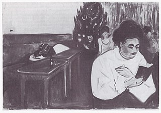 <i>Christmas in the Brothel</i> painting by Edvard Munch