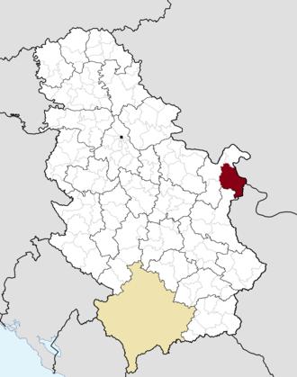 Negotin - Image: Municipalities of Serbia Negotin