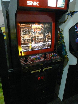 Metal Slug (1996 video game) - An MVS Arcade cabinet with Metal Slug.