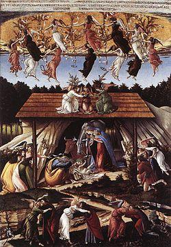 Η μυστική γέννηση, 1500, 108.5 x 15 εκ, Εθνική Πινακοθήκη, Λονδίνο