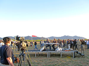 NASA TV - NASA TV broadcasting live from White Sands Missile Range in 2010.