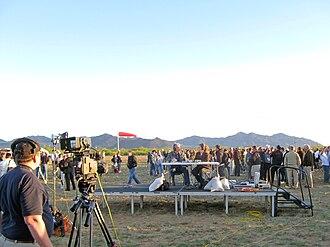 NASA TV - NASA TV broadcasting live from White Sands Missile Range in 2010.