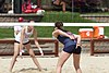 NCAA beach volleyball match at Stanford in 2017 (33048519740).jpg