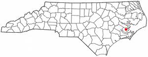 Bayboro, North Carolina - Image: NC Map doton Bayboro