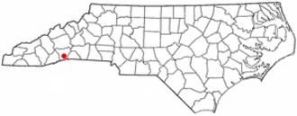 Flat Rock, Henderson County, North Carolina - Image: NC Map doton Flat Rock