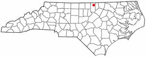 Stovall, North Carolina - Image: NC Map doton Stovall