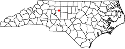 Location of Wallburg, North Carolina