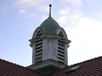 North Carolina School of Science and Mathematics - Cupola atop the 1908 Watts building, used in the school's logo until 2015.