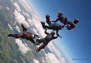 Target Skysports - Formation skydiving jump by British Women's team NFTO