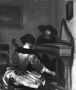 Kurt Martin - NK 2740: ter Borch (previously attributed to) – Music lesson, 1942, purchased of the Dienststelle Mühlmann