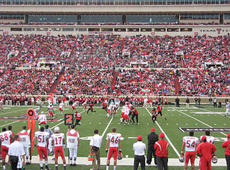 2009 Texas Tech Red Raiders football team - Action during the New Mexico game