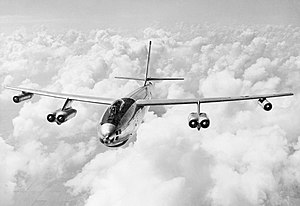 Boeing B-47 Stratojet - Boeing B-47 Stratojet in flight.