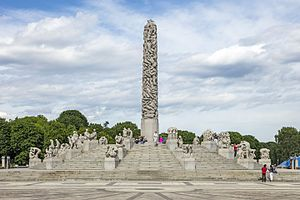 Gustav Vigeland - The Monolith,  Vigeland installation in Frogner Park, Oslo