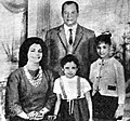 Nagib Mahfooz with his family.jpg