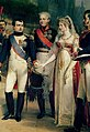 Napoléon, Alexandr I, Queen Louise and Frederick William III.jpg