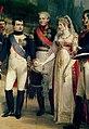 Napoléon, Alexandr I, Queen Louise and Frederick William III.jpg