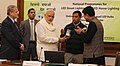Narendra Modi launching the National Programme for LED Street Lighting and LED Home Lighting, in New Delhi. The Lt. Governor Delhi, Shri Najeeb Jung and the Minister of State (Independent Charge) for Power (1).jpg