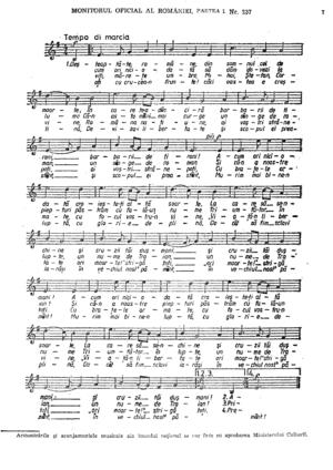 Deșteaptă-te, române! - Lyrics and music sheet