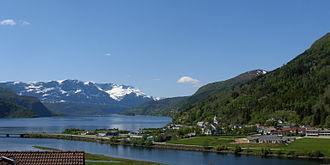 Naustdal - View of the village of Naustdal