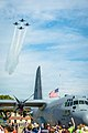 Navy Blue Angels fly over Sound of Speed (44475303891).jpg
