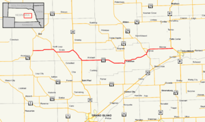 Nebraska Highway 22 - Image: Nebraska Highway 22 map