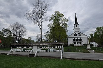 Nelson, New Hampshire - Image: Nelson NH Church And Mailboxes