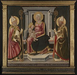 Virgin and Child Enthroned with Saints Martin of Tours andBlaise