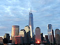 New York City skyline sunset World Trade Center.jpg