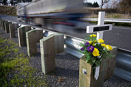 New Zealand - Cross and crash memorial - 9722