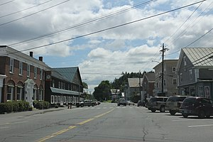 Newbury (village), Vermont - Downtown Newbury US302 / US5